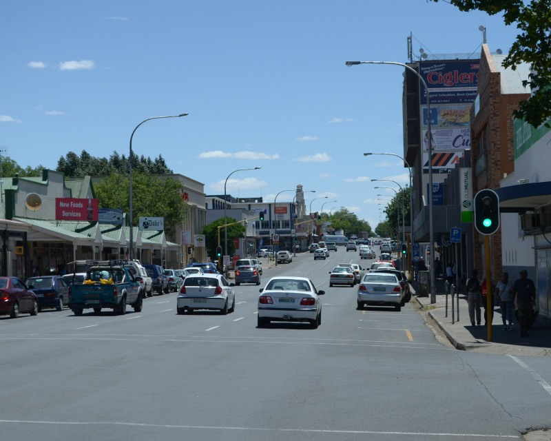 Traffic in the middle of the Free State town of Bethlehem