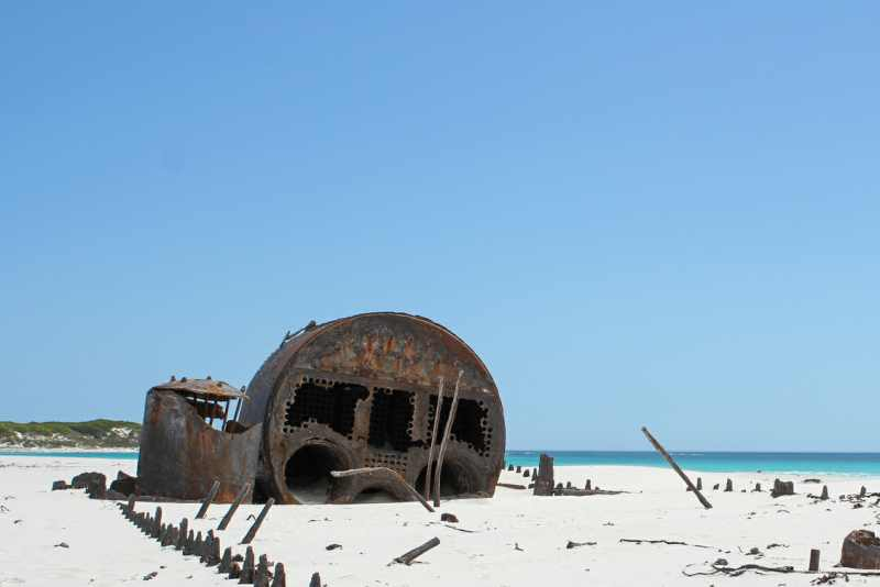 The shipwrecked vessel Kakapo near Kommetjie