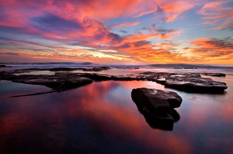A stunning sunset at Kommetjie