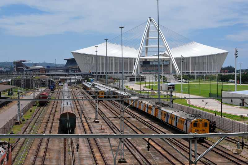 Durban's famous football stadium constructed for the 2010 World Cup