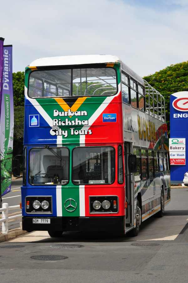 The Ricksha Bus is a great way to see Durban