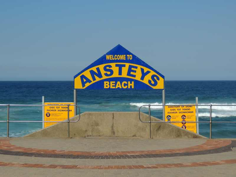 Ansteys Beach is one of the popular Bluff beaches, Durban