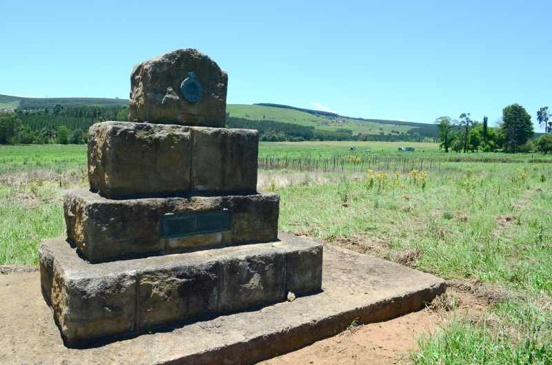 The monument marking the spot where General Louis Botha was born