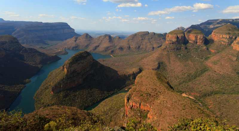 Blyde River Canyon is the second biggest canyon in Africa