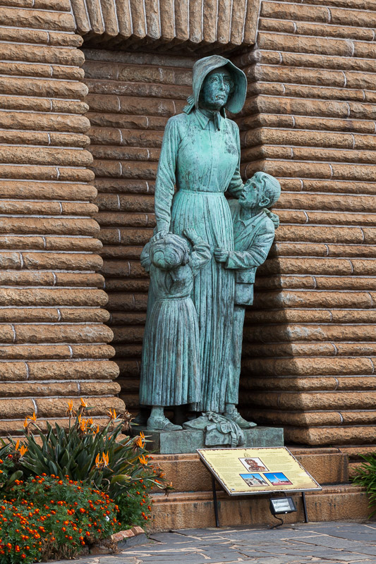 Woman and Children statue