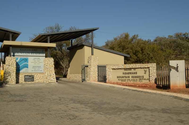 The entrance to Kgaswane Mountain Reserve